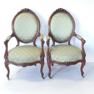 Antique- Pair -Of- Victorian -Armchairs