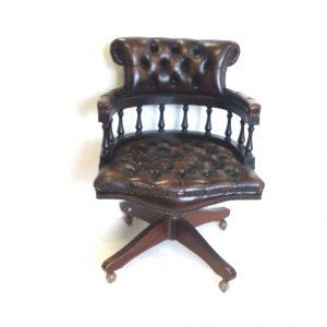 Antique Style- Captains- Desk- Chair