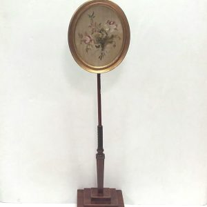 Antique- Georgian- Pole- Screen