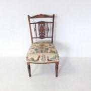 Antique- Inlaid -Rosewood- Lady,s- Chair.
