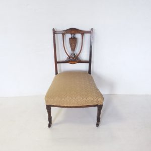 Antique- Inlaid -Rosewood- Ladys- Chair