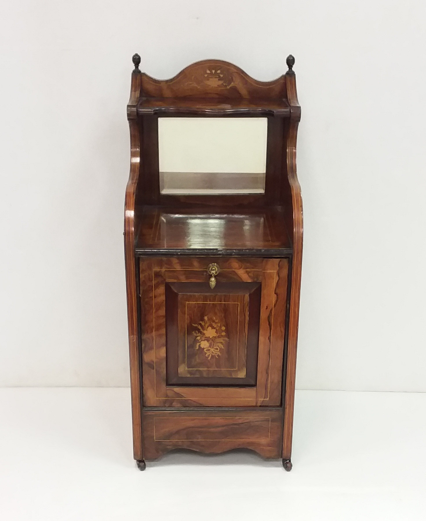 Antique Victorian Inlaid Rosewood Coal Perdaman