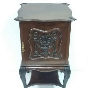 antique victorian music cabinet