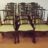 Antique Style Mahogany Set Of 10 Chairs And 2 Carvers