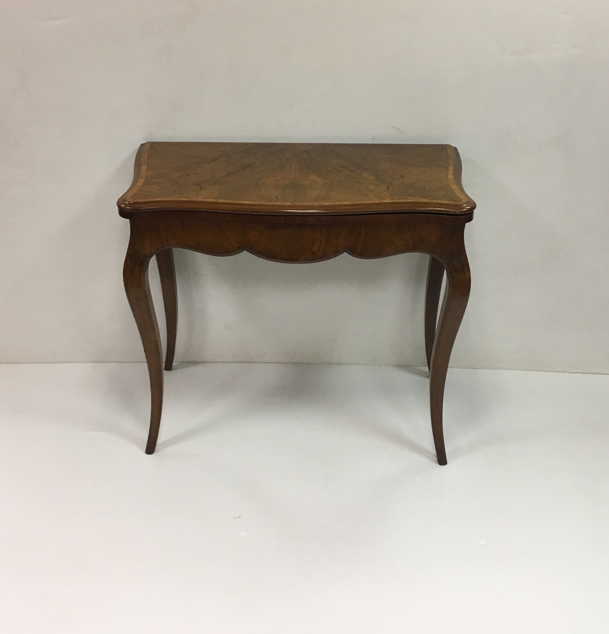 antique edwardian walnut inlaid fold over games table reilly antiques