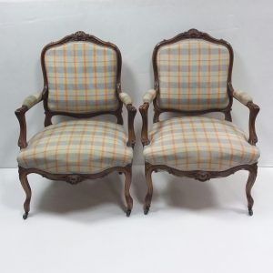 Antique style Upholstered Armchairs