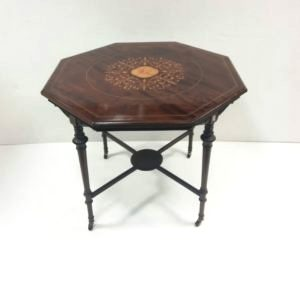 Antique Late Victorian Hexagonial Centre Table