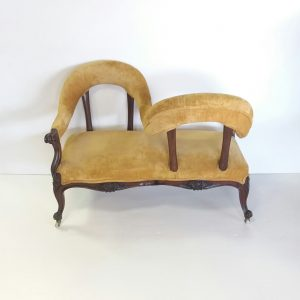 Antique Victorian Conversation Seat