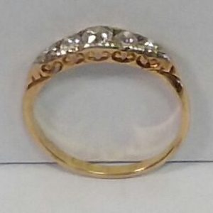 18ct Gold Diamond Ring Birmingham Circa 1916 size L and a half