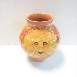 Sally Tuffin Lion Bulbous Vase