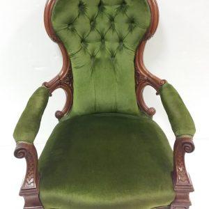 Antique_Victorian_Upholstered_Gentleman's_Chair
