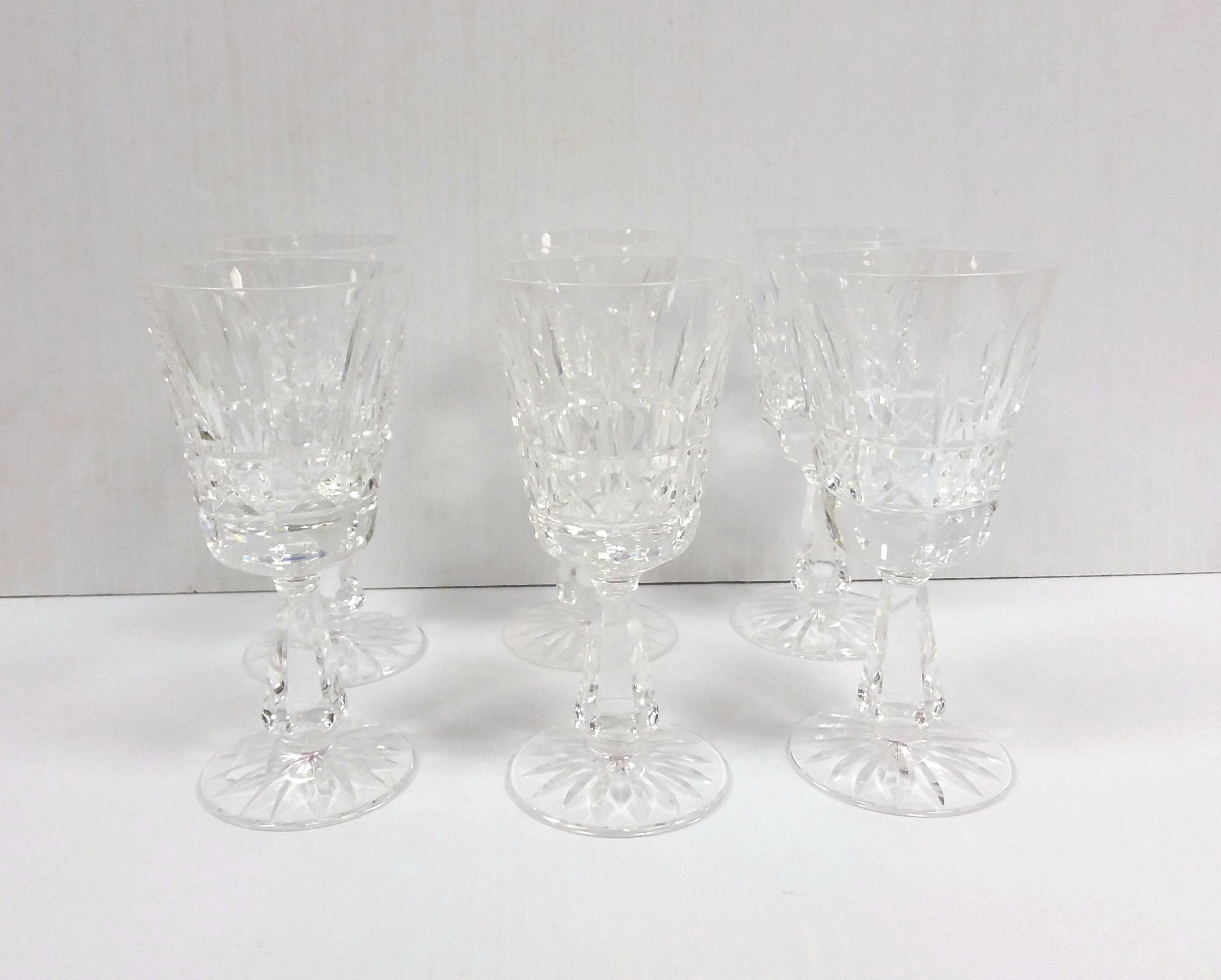 Set of 6 Waterford Crystal Wine Glasses