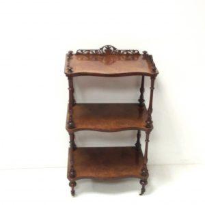 Antique Victorian_Burr_Walnut_Whatnot