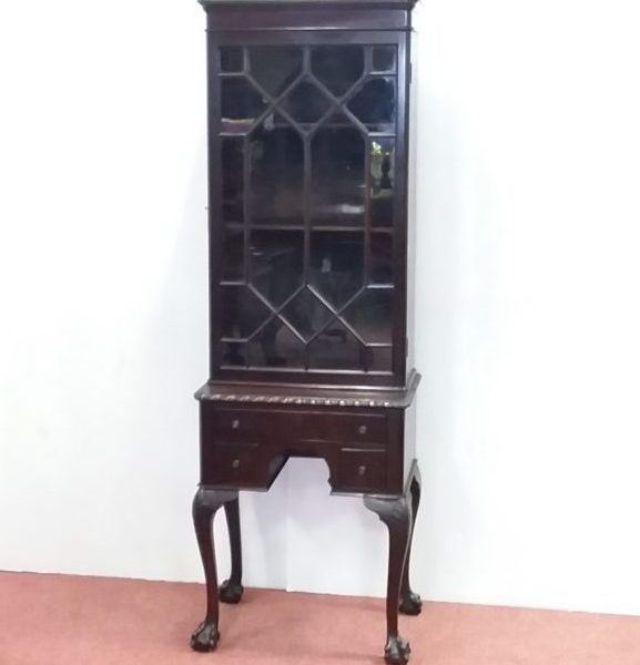 Antique Edwardian Miniature Bookcase