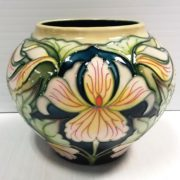 Moorecroft_ waistline__ vase_ contemporary_ orchid