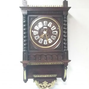 Antique_French_Mahogany_Wall_Clock