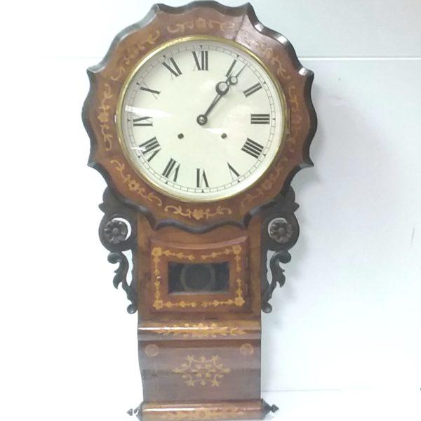 Antique Edwardian Drop Dial Wall Clock