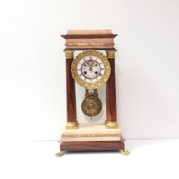 Antique Biedermier Marble Mantel Clock