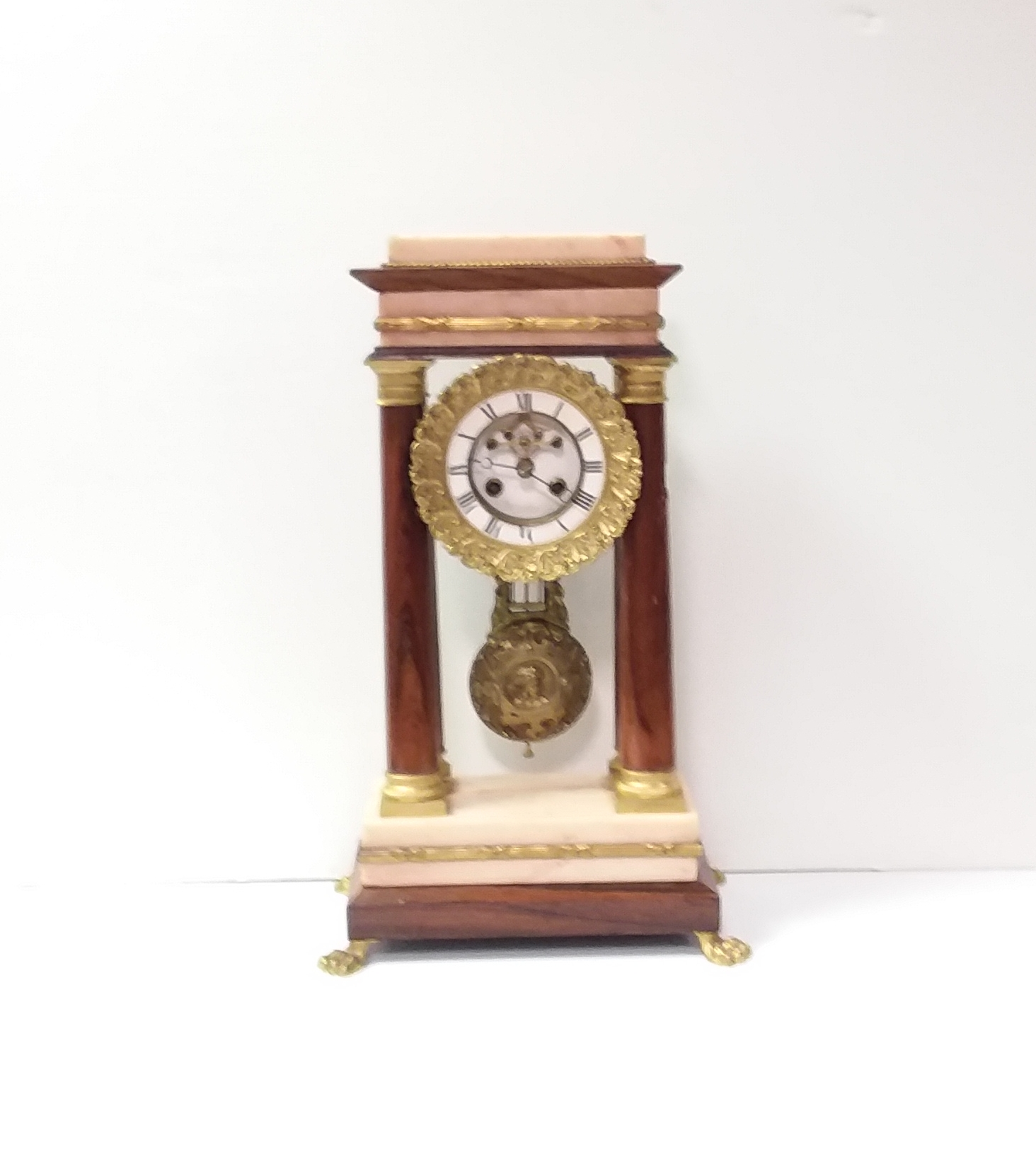 Antique_Biedermier_Marble_Mantel_Clock