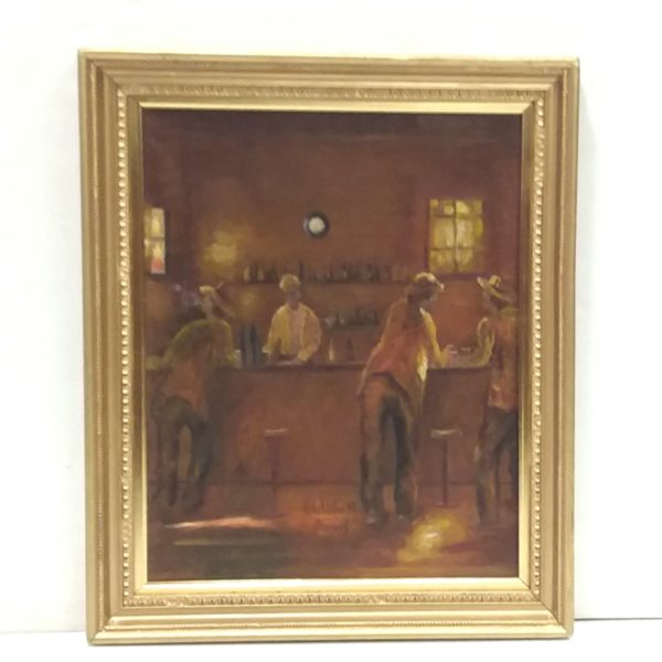 Antique Gilt Framed Oil on Board