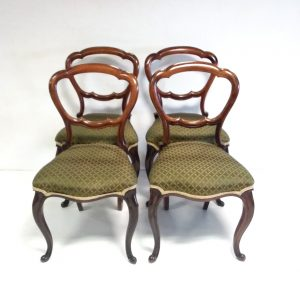 Antique Victorian Rosewood Dining Chairs