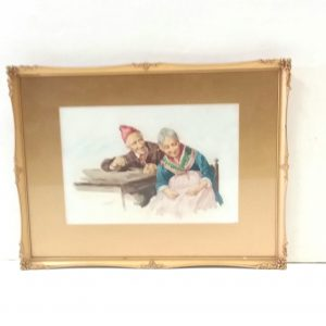 Antique Edwardian Watercolour by Giami.