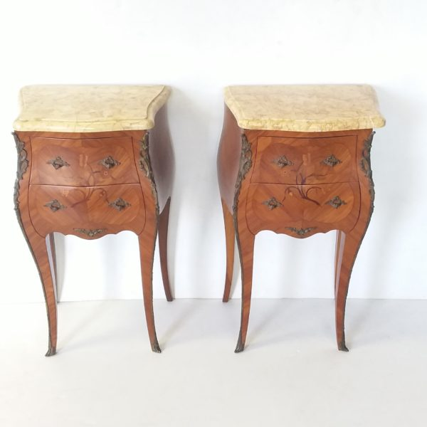 Antique -Style- French- Nightstands