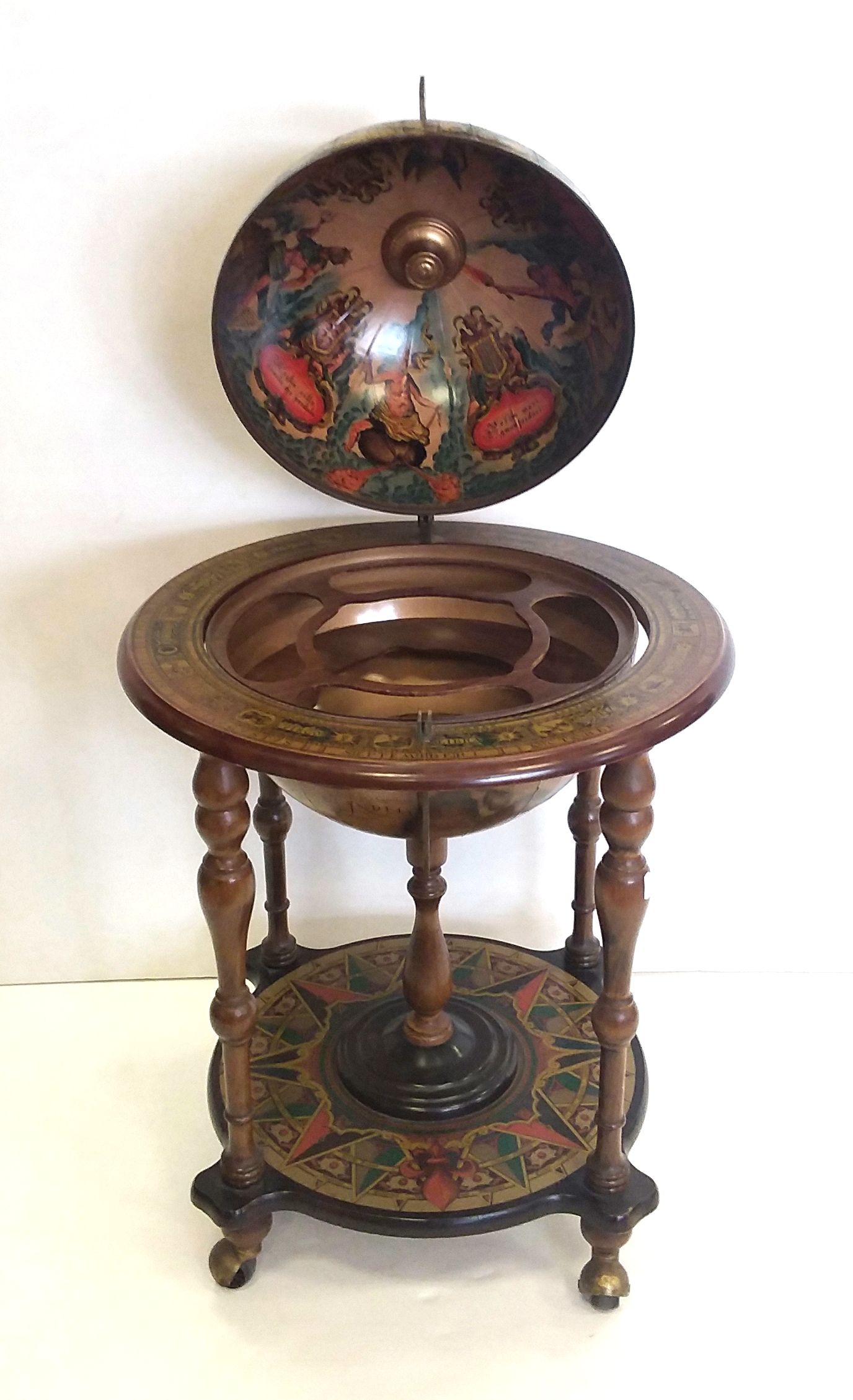 Vintage Globe Drinks Cabinet - Vintage Globe Drinks Cabinet – Reilly Antiques