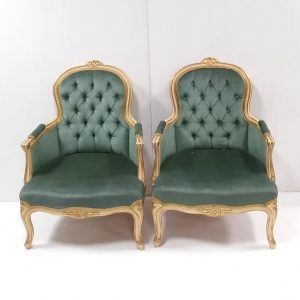 Pair of French Antique Style Armchairs