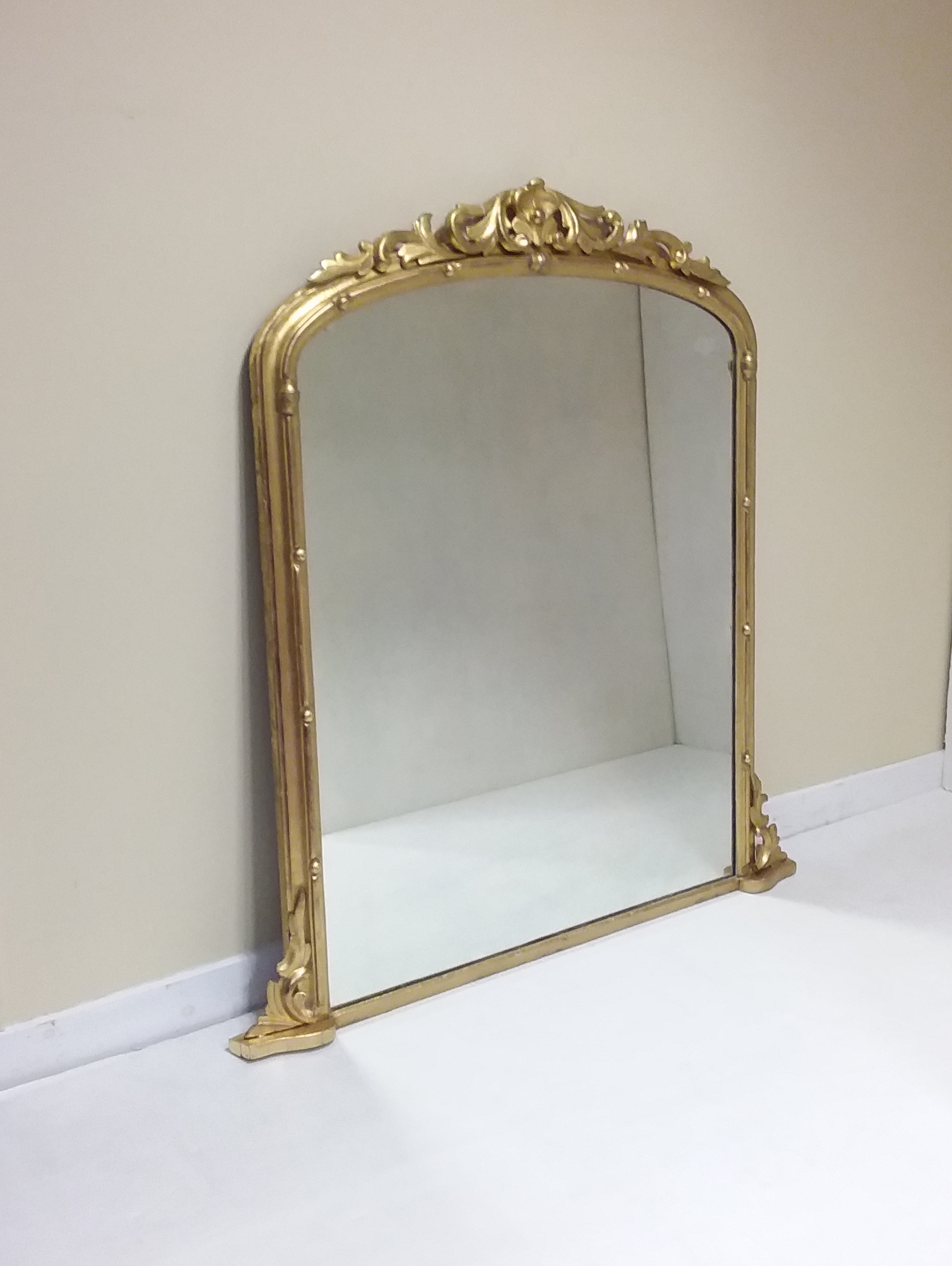 gilt - overmantle - mirror