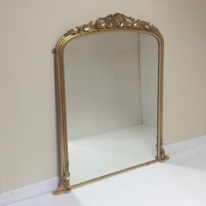 19th- c gilt- overmantle