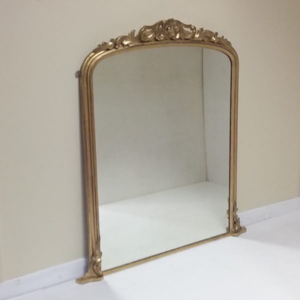 19th c gilt overmantle