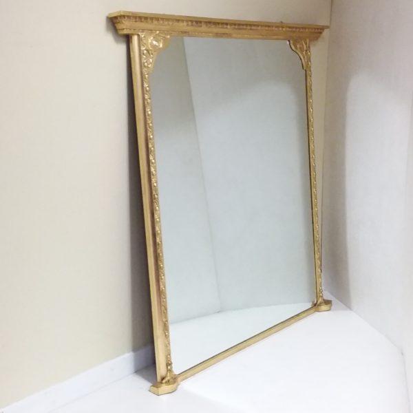Antique 19th Century Overmantle Mirror