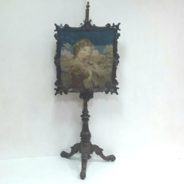 Antique William IV Pole Screen