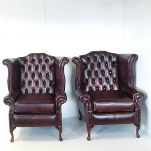 Antique_Style_Leather_Pair_of_Wingback_Armchairs