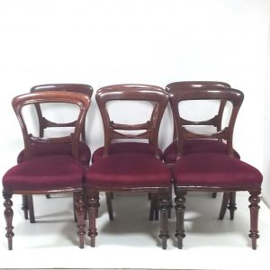Antique- set- of- 6 -Victorian mahogany- dining- chairs