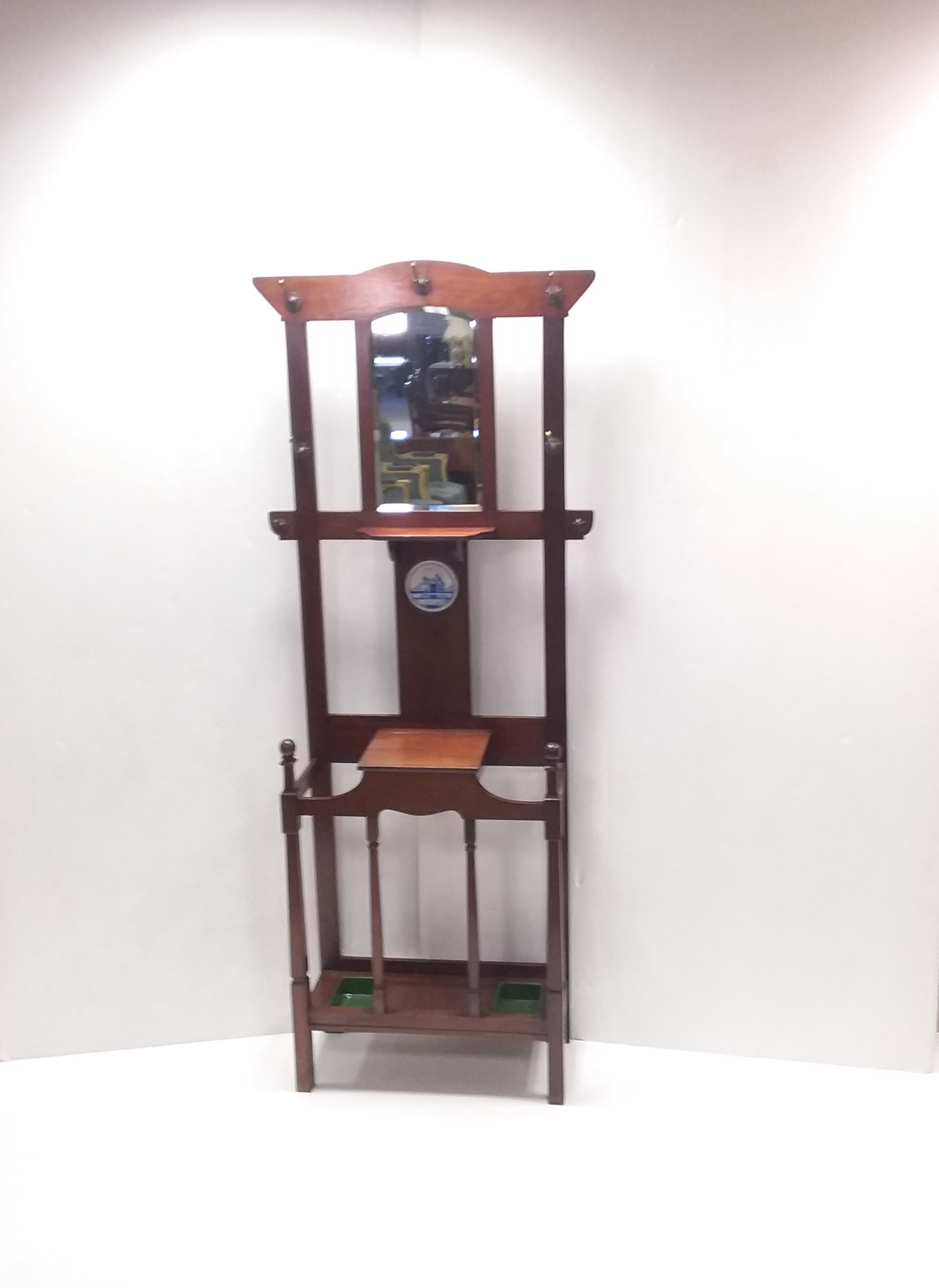 Antique- Edwardian- Mahogany- Hallstand