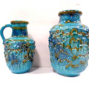 ms 16153 Large German Vase And Jug