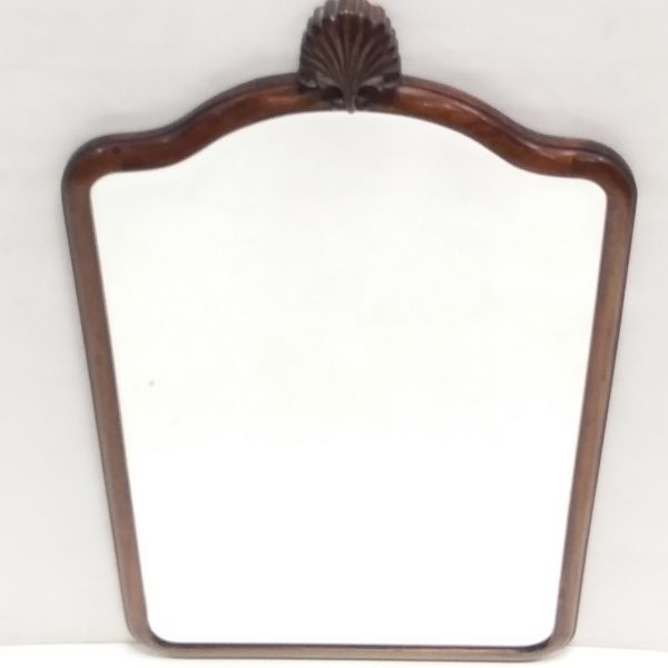 Antique Edwardian Mahogany Bevelled Mirror