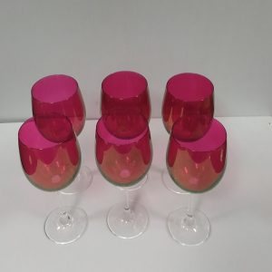 Set _o_ 6_Cranberry_Glasses