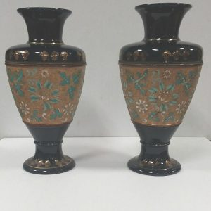 Antique Victorian Pair of Royal Doulton Slater Vases