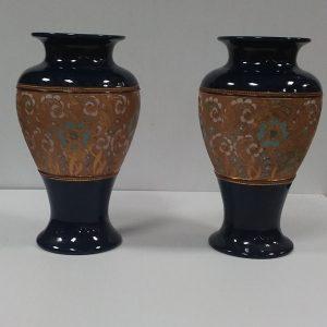 Antique Victorian Royal Doulton Slater Vases