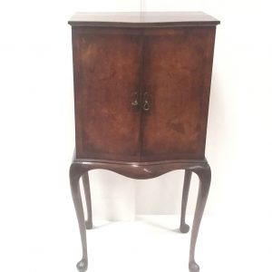Antique Edwardian Serpentine Cabinet