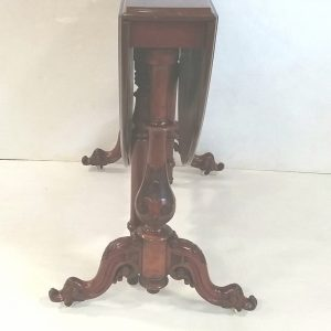 Antique Victorian Burr Walnut D-End Sutherland Table