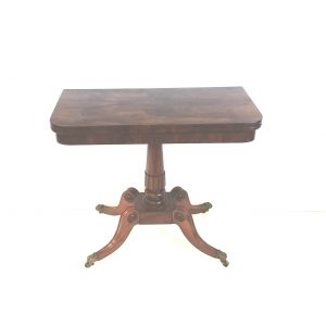 Antique Regency Rosewood Foldover Games Table