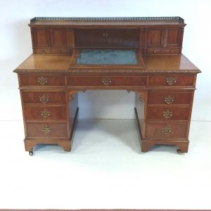Antique Edwardian Twin Pedestal Desk