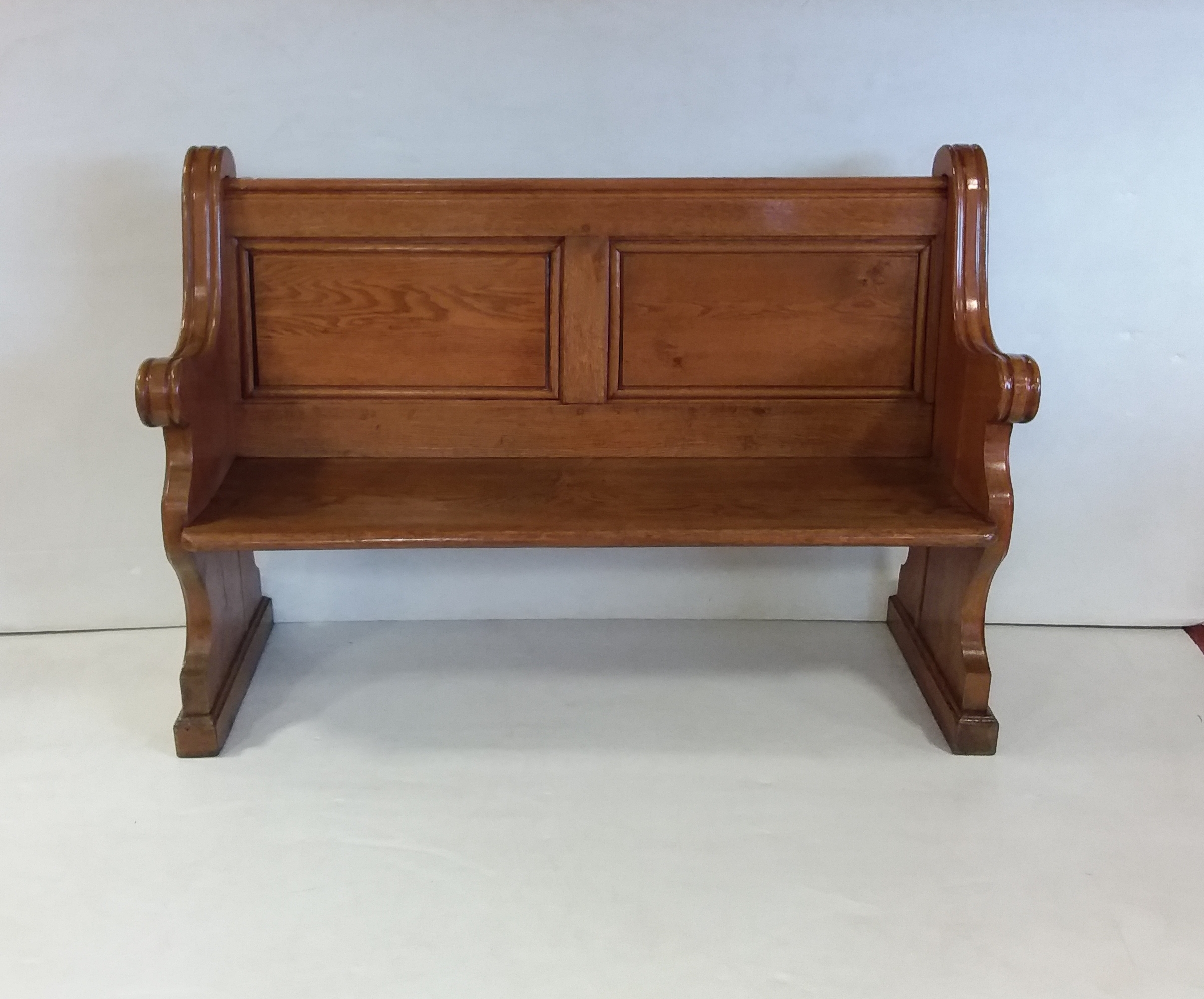 Antique Victorian Solid Oak Church Pew