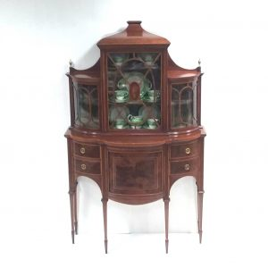 Edwardian- inlaid- bow- front- display
