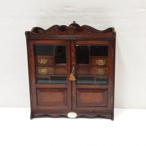 Antique Edwardian Solid Oak Smokers Cabine