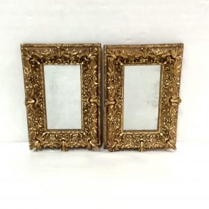 Antique 19th Century Pair of Rocco Gilt Mirrors